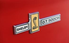 Картинка макро, Mustang, Ford, Shelby, Кабриолет, Форд, Мустанг, эмблема, кобра, шильдик, Convertible, Шелби, Classic Recreations, 500CR