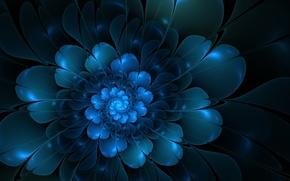 Обои цветок, абстракция, лепестки, векторы