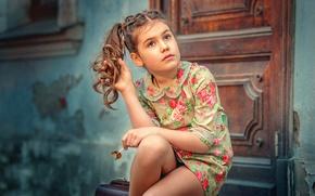 Картинка платье, дверь, девочка