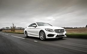 Картинка Mercedes-Benz, Coupe, C-Class, мерседес, белый, AMG, C205