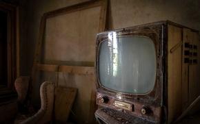 Картинка фон, комната, телевизор