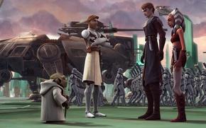 Картинка troopers, clone, animated series, Звездные войны: войны клонов, STAR WARS: THE CLONE WARS, Lucasfilm, Jedi …