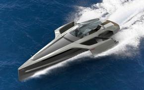 Картинка вода, Audi, Ауди, Яхта, концепт, Design Concept, Trimaran