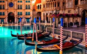 Картинка colors, colorful, umbrella, water, flowers, beautiful, view, lake, romantic, beauty, hotel, las vegas, reflection, boats, …