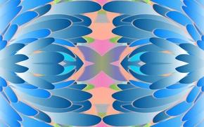 Картинка листья, линии, цвет, симметрия