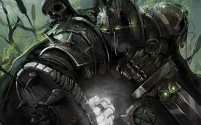 Картинка оружие, меч, воин, арт, шлем, кулак, доспех