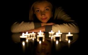 Картинка Light, Candle, reflection