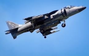 Картинка истребитель, штурмовик, взлет, AV-8B, Harriers