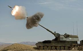 Картинка установка, самоходная, артиллерийская, PzH 2000, Panzerhaubitze 2000, гаубица, бронированная