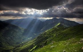 Обои небо, горы, облака