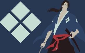 Картинка sword, logo, game, Samurai Champloo, minimalism, anime, katana, man, samurai, asian, glasses, manga, japanese, kimono, …