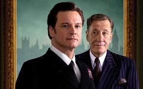 Обои фильм, актёры, Geoffrey Rush, Колин Ферт, The King's Speech, Джеффри Раш, Король говорит, Colin Firth