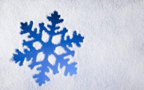 Картинка зима, снег, snowflake