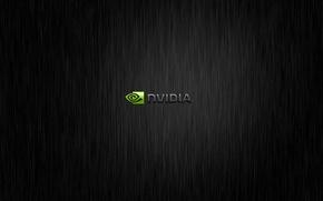 Картинка обои, черный фон, Nvidia, black, компьютеры.