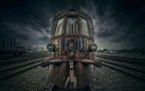 Картинка рельсы, поезд, раритет