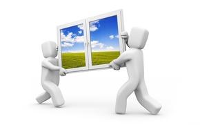 Обои движение, Windows, окно