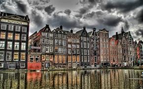 Картинка Канал, Амстердам, Кофешоп