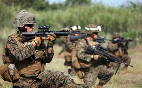 Картинка оружие, фон, солдаты