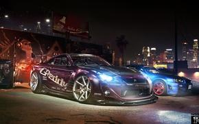 Картинка тюнинг, фотошоп, GTR, Nissan