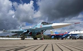 Картинка ВВС, Бомбардировщик, России, Сухой, Су-34
