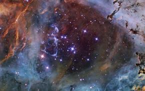 Картинка цвета, космос, звезды, туманность