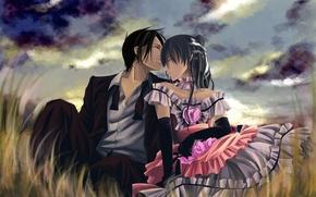 Обои девушка, любовь, чистота, нежность, поцелуй, парень, двое, отношения, Love kiss