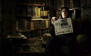 Обои книги, газета, гарри поттер, Северус Снейп, Alan Rickman, Алан Рикман, Severus Snape, Северус Снегг, harry ...