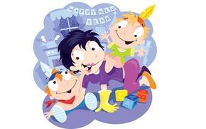Картинка дети, настроение, день рождения, праздник, арт, картинка, Nick Diggory