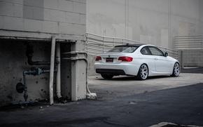 Картинка тюнинг, бмв, BMW, белая, E92, 328i, MRR Wheels
