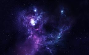 Картинка звезды, свет, туманность, планеты, evera nebula