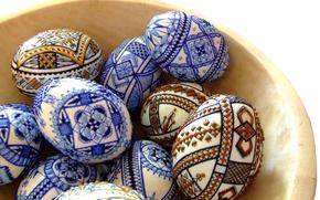 Картинка праздник, яйца, блюдце