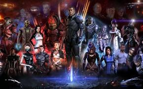 Картинка Mass Effect, Шепард, все все все