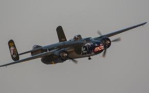 Картинка бомбардировщик, двухмоторный, средний, B-25
