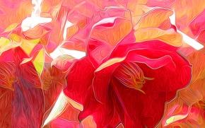 Картинка цветок, природа, рендеринг, лепестки