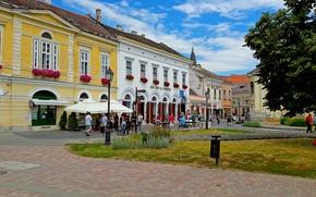Картинка city, summer, street, Hungary, Székesfehérvár