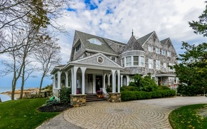 Картинка luxury villa, Cape Cod, Cohasset, style home with Victorian influence, Kingsview