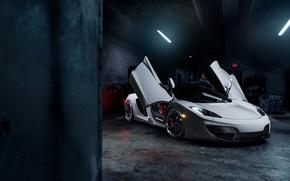 Картинка McLaren, Front, MP4-12C, Tuning, Supercars, Wheels, ADV.1, Doors, ADV6 TS