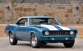Картинка Chevrolet, 1969, camaro, muscle, classic, Z28
