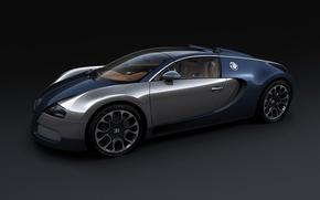 Обои Bugatti, Veyron, карбон, темносинний