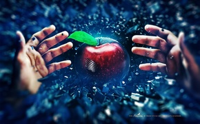 Картинка Apple, Яблоко, Стиль, Руки, Bad, Seed, Семечка