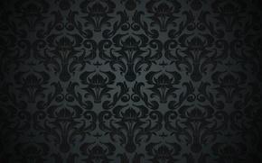 Картинка pattern, ретро, vintage, vector, background, black, texture, dark, орнамент, узор, gradient, винтаж