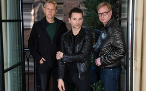 Картинка состав группы, Depeche Mode, Martin Gore, David Gahan, Andrew Fletcher