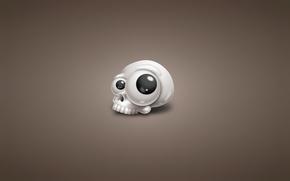 Картинка белый, глаза, череп, минимализм, голова, скелет