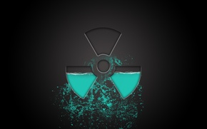 Картинка вода, минимализм, радиация