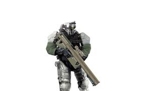 Картинка оружие, фантастика, робот, киборг, экипировка