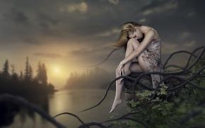 Картинка девушка, природа, фентези, арт, Surreal, Fairy Land
