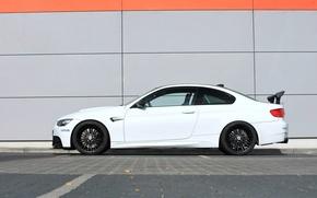 Картинка белый, стена, бмв, BMW, wall, white, g-power, e92
