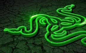 Картинка Art, Green, Black, Logo, Razer, White, Wallpaper, Hi-Tech, Razer Control
