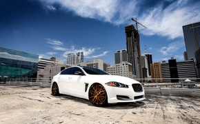 Картинка Jaguar, wheels, sky, Forgiato