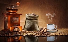 Картинка кофе, плита, чашка